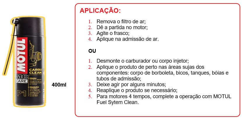 P1: Motul Carbu Clean - Linha MC CARE